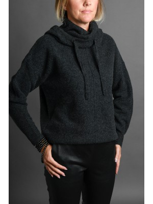 JUTTA GROSS Kapuzenpullover in Anthrazit