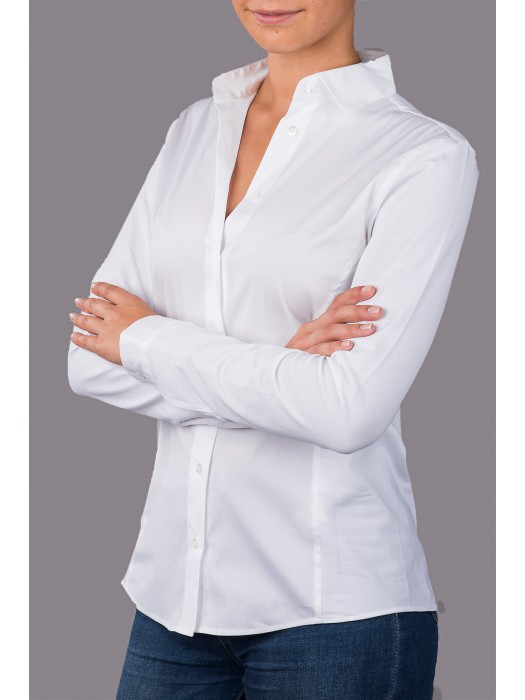 JUTTA GROSS Blusenshirt in Weiß